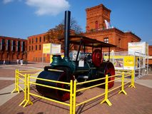 Open air museum road in an old factory. Royalty Free Stock Photo