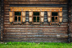 Open air museum vitoslavlitsy in Novgorod Royalty Free Stock Photography