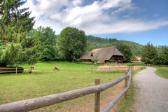 Black Forest Open Air Museum Vogtsbauernhof, Gutach, Germany.  Royalty Free Stock Photos