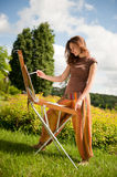 Open air painting Royalty Free Stock Image