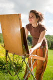 Open air painting Stock Photo