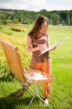 Open air painting Royalty Free Stock Photos