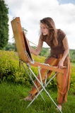 Open air painting Royalty Free Stock Photo