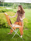 Open air painting Stock Photos