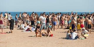 Open air party on   beach Stock Photos