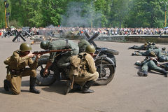 Open-air performance on Victory Day Stock Photography
