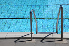 Open air pool. The edge of an open air pool Stock Images