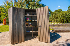 Open Air Public Library stand in Museon park of Arts of Moscow Stock Photography
