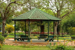 Open air rest house in Mysore zoo Royalty Free Stock Image