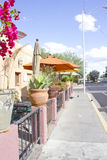 Open-air restaurang fotografering för bildbyråer