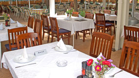 Open air restaurant Royalty Free Stock Photography