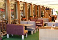 Open air restaurant Royalty Free Stock Photos