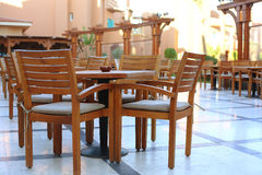 Open air restaurant in egyptian all inclusive resort Stock Image