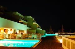 Open-air restaurant illumination of luxury hotel Stock Image