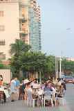 The Open-air restaurants in SHENZHEN Royalty Free Stock Image