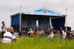 Open-air rock festival Royalty Free Stock Image
