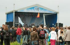 Open-air rock festival Royalty Free Stock Images