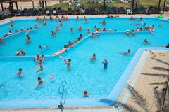 Open-air swimming pool Royalty Free Stock Photos