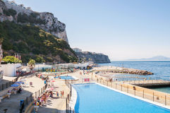 Open Air Swimming Pool in Gibraltar Royalty Free Stock Photography