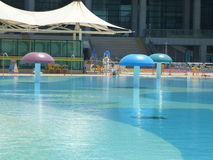 Open air swimming pool Royalty Free Stock Photography