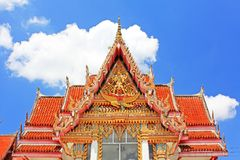 Roof of Wat Hat Yai Nai, Hatyai, Thailand Stock Photo