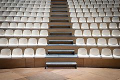 Rows of plastic seats Royalty Free Stock Photos