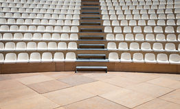 Rows of plastic seats Royalty Free Stock Image