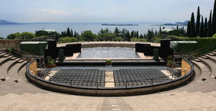 Open air theatre. In Gabriele D Annunzio II Vittoriale's garden Stock Image
