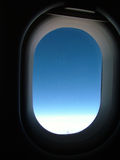 Open airplane window Royalty Free Stock Image