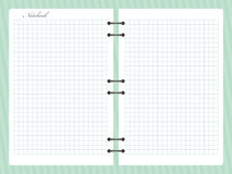 Open a ajusté le carnet de bloc-notes avec la spirale Photo libre de droits