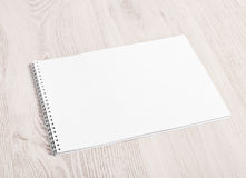 Open album with blank pages Stock Photography