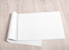 Open album with blank pages Stock Image