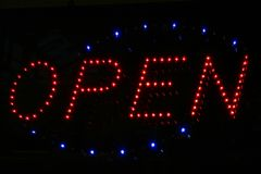 Open all Hours. Neon Sign Royalty Free Stock Image