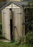Open allotment shed 2 royalty free stock photos