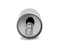 Open aluminum can top Stock Photo