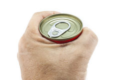 Open aluminum can Royalty Free Stock Images