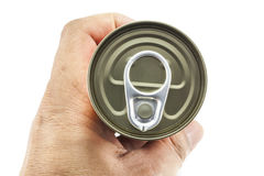 Open aluminum can Royalty Free Stock Image