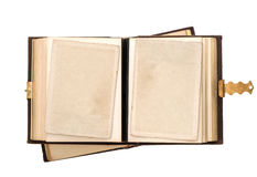 Open antique album with empty photo cards Royalty Free Stock Photography