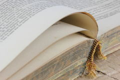 Open old book detail Stock Image