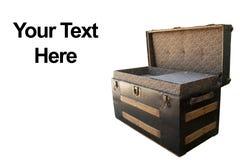 Open antique chest Stock Photo