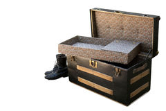 Open antique chest Stock Images