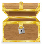 Open antique chest vector illustration Stock Photography