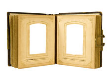 Open antique photo album Royalty Free Stock Images