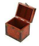 Open antique wooden trunk #2 royalty free stock image