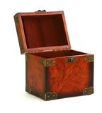 Open antique wooden trunk Royalty Free Stock Photo