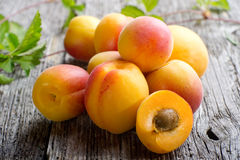 Open apricot Stock Photo