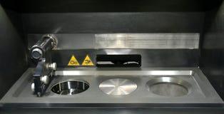 Open Arbeitskammer einer Lasersinternmaschine für Metall lizenzfreie stockfotografie