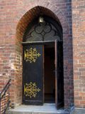 The open arched door royalty free stock photos