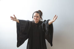 Open armed preacher Royalty Free Stock Photo