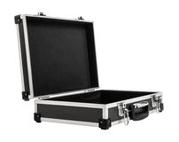 Open armored black case for money. On white background; isolated Stock Image